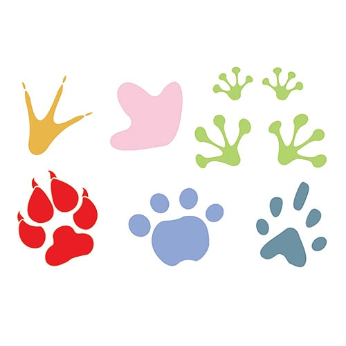 Huella de animales para colorear - Imagui