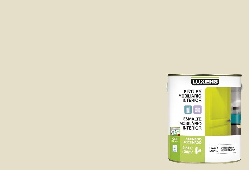 Esmalte al agua satinado luxens blanco lino satinado 6 ref - Lino clipsable leroy merlin ...