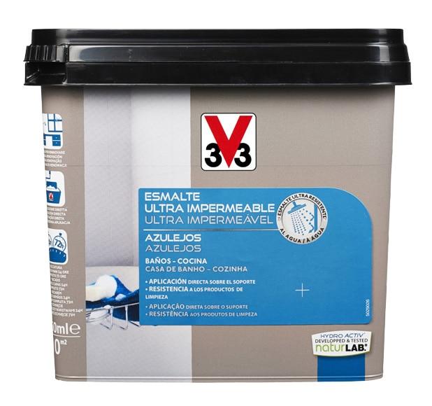 Esmalte Impermeable Azulejos V33 Gris Carbonato Ref