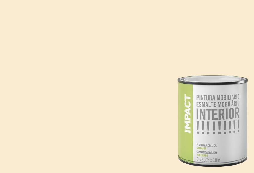 Esmalte al agua satinado impact beige satinado ref for Pintura beige pared