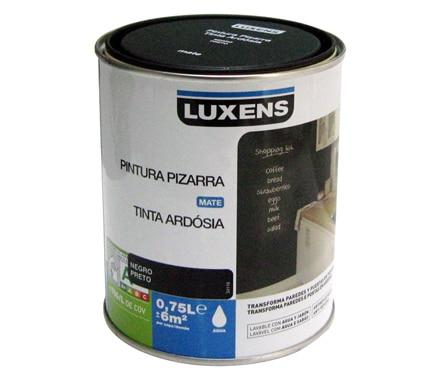 Pintura pizarra luxens pizarra negro ref 17445491 leroy - Pinturas decorativas leroy merlin ...