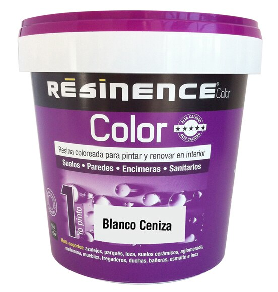 Resina acabado satinado resinence blanco ceniza ref for Resina leroy merlin