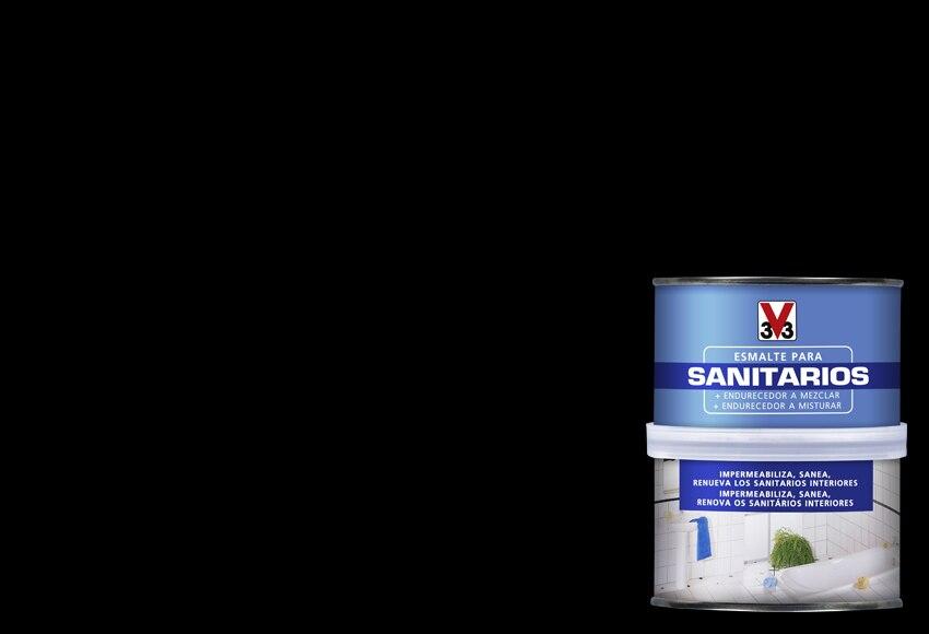 Esmalte Sintetico Para Sanitarios V33 Sani Negro Brillante Ref