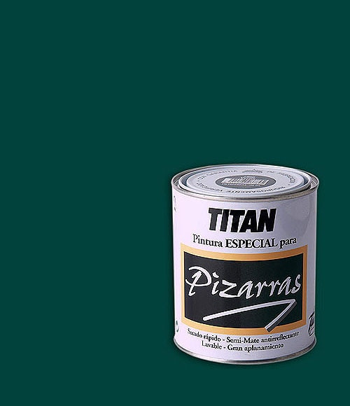 Pintura para pizarra tit n verde mate ref 11433632 - Pintura pizarra colores ...