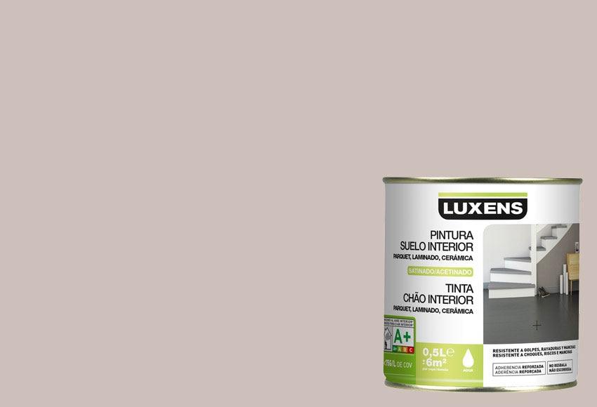 Pintura para suelos satinada luxens gris dorado n5 ref for Pintura para azulejos precio leroy merlin