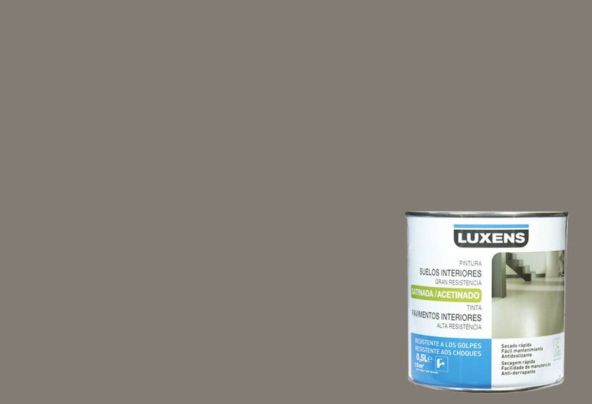 Pintura para suelos luxens marron topo ref 14891555 for Pintura color topo