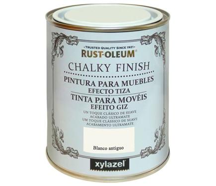 Pintura para muebles 125 ml rustoleum efecto tiza blanco for Pintura magnetica leroy merlin