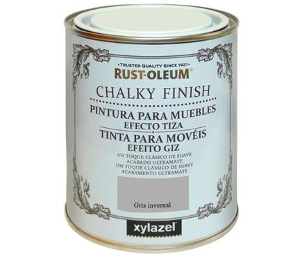 Efecto tiza gris invernal xylazel efecto tiza gris for Pintura plastica leroy merlin