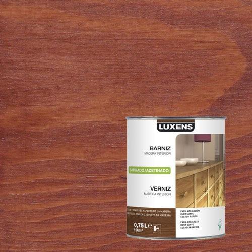 Barniz para madera interior satinado luxens caoba satinado - Barniz para madera interior ...