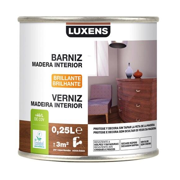 Barniz de interior luxens brillo wengue ref 16700131 - Barniz para madera interior ...