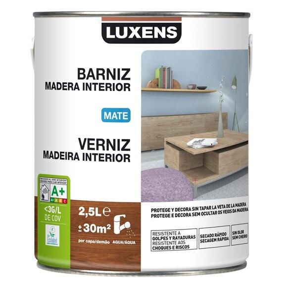 Barniz de interior luxens mate wengue ref 16699935 - Barniz para madera interior ...