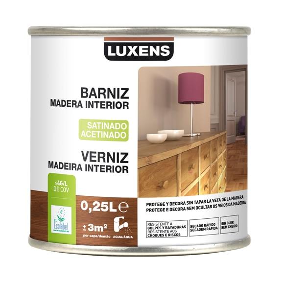 Barniz de interior luxens satinado caoba ref 16699900 - La mejor madera para exterior ...