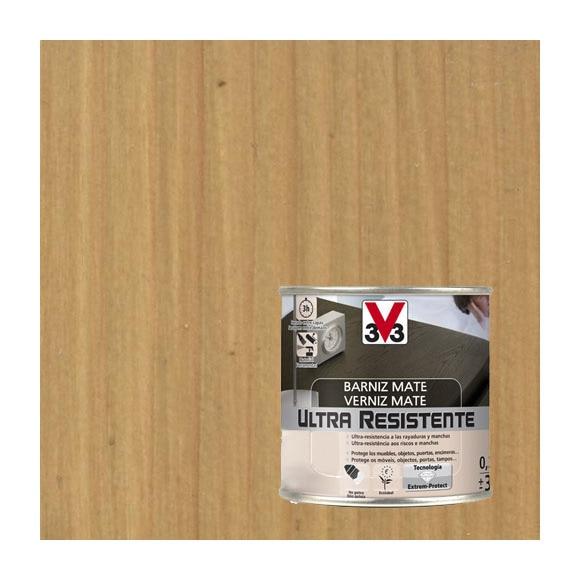 Barniz de interior ultraresistente mate v33 roble claro - Barniz para madera interior ...