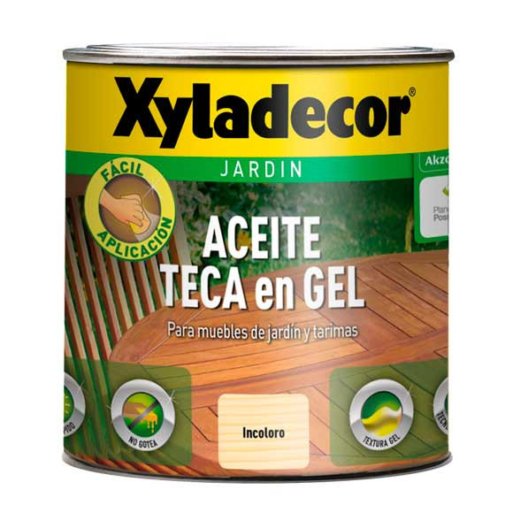 ACEITE TECA GEL XYLADECOR INCOLORO MATE