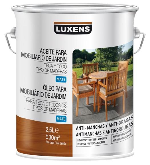 Productos para la madera aceite teca luxens incoloro mate - Aceite para madera exterior ...