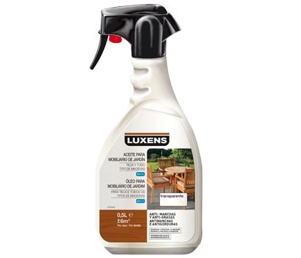 Productos para la madera aceite teca spray luxens madera - Aceite para madera exterior ...