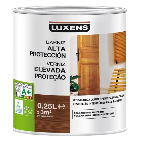 Productos para la madera barniz exterior luxens incoloro for Maderas tratadas para exterior leroy merlin