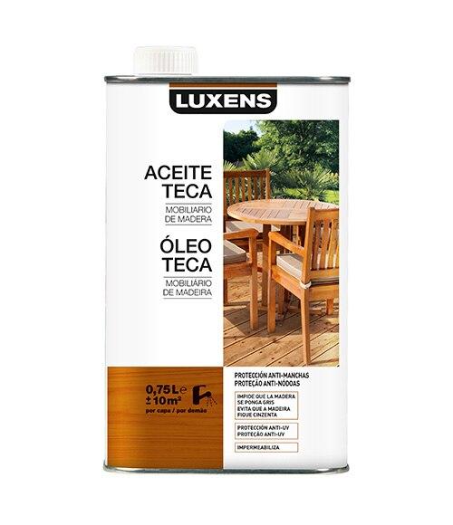 Aceite de teca luxens aceite teca incoloro ref 16239335 - Aceite de teca para madera ...