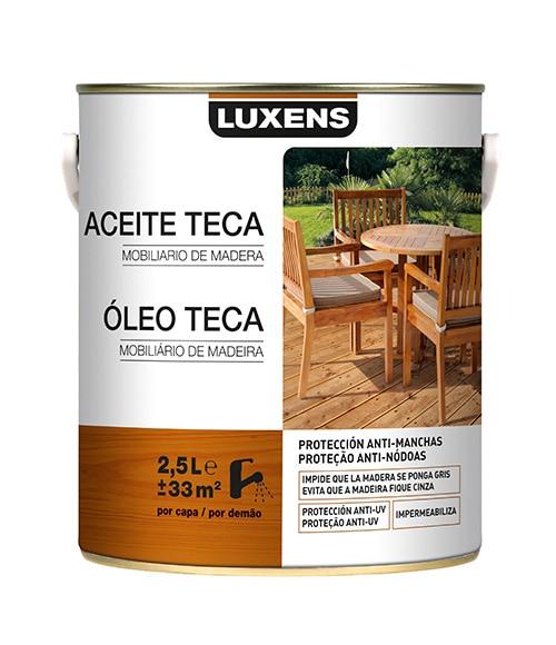 Aceite de teca luxens aceite teca madera exotica ref - Aceite para madera exterior ...