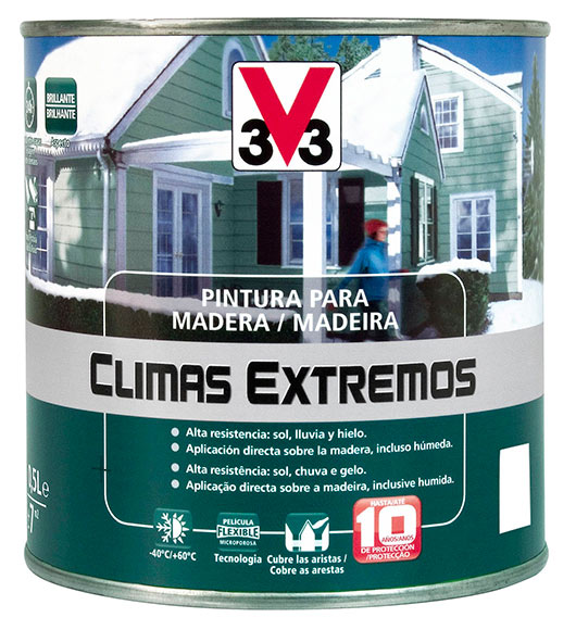 Pintura para madera climas extremos v33 brillante blanco - Pintura para madera leroy merlin ...