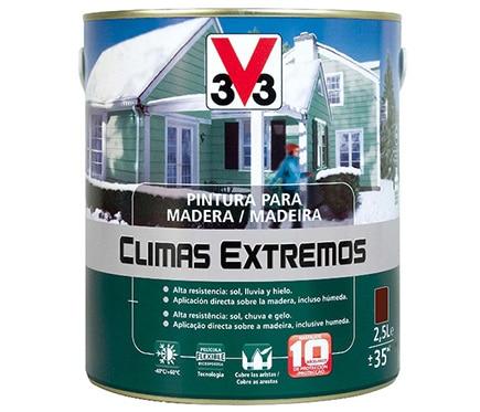 Pintura para madera climas extremos v33 brillante marr n - Pintura para madera leroy merlin ...