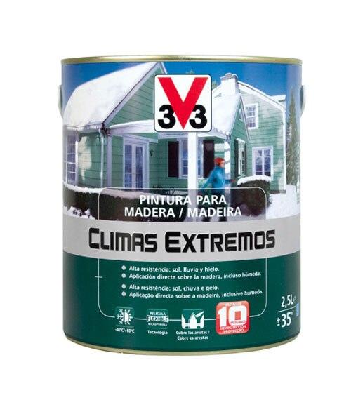 Pintura para madera climas extremos v33 brillante rojo - Pintura para madera leroy merlin ...