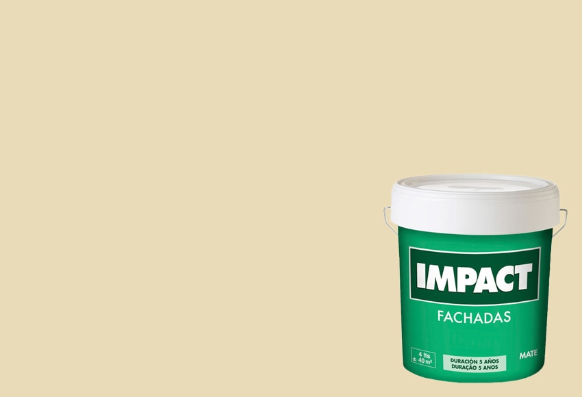 Pintura para fachadas impact 5 a os ocre claro ref for Pintura beige claro