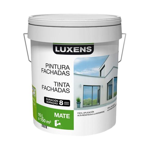 Pintura para fachadas luxens 8 a os blanco ref 15630615 for Pintura plastica leroy merlin