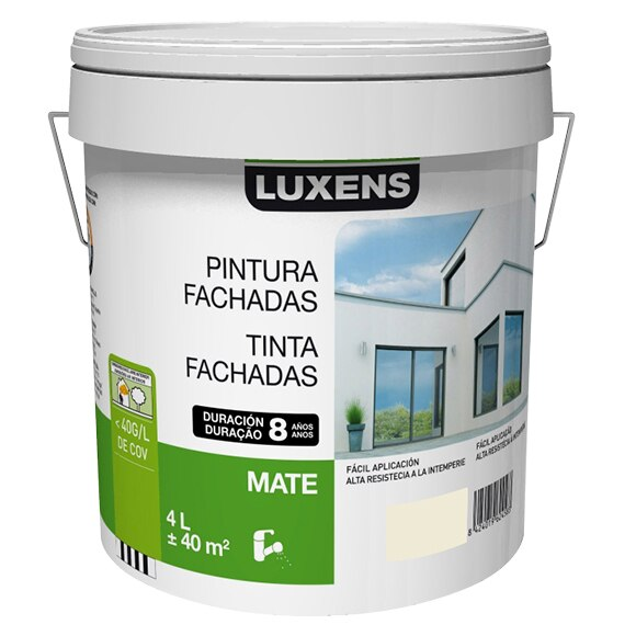 Pintura para fachadas luxens 8 a os hueso ref 15630601 - Pintura luxens opinion ...