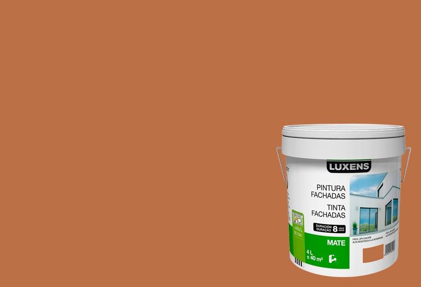 Pintura para fachadas luxens 8 a os ocre ref 15630475 for Pintura color ocre