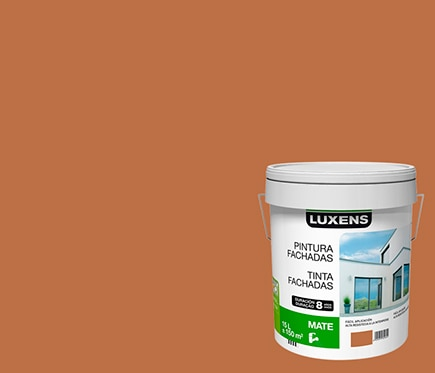 Pintura para fachadas luxens 8 a os ocre ref 15630650 for Pintura para radiadores leroy merlin