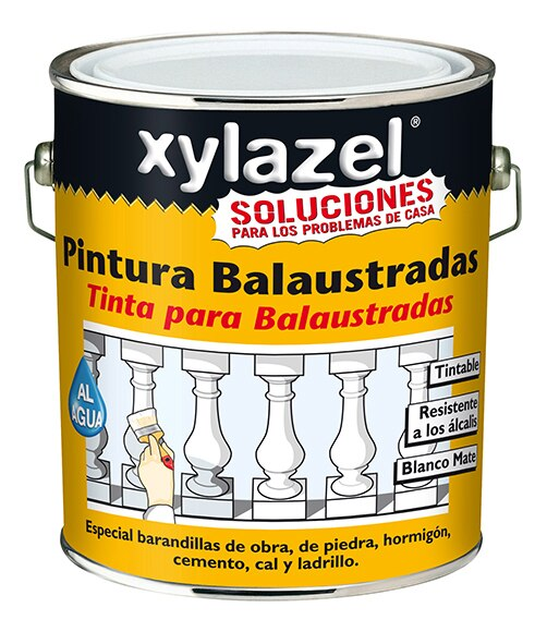 Pintura para fachadas xilazel balaustradas blanco ref - Pintura exterior leroy merlin ...