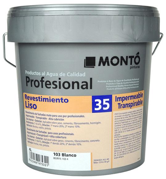 Revestimiento para fachadas mont profesional liso 35 - Precio pintura exterior leroy merlin ...