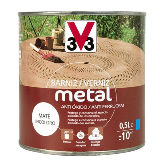 Barniz metal v33 barniz para metal ref 13304942 leroy - Pinturas para metal ...