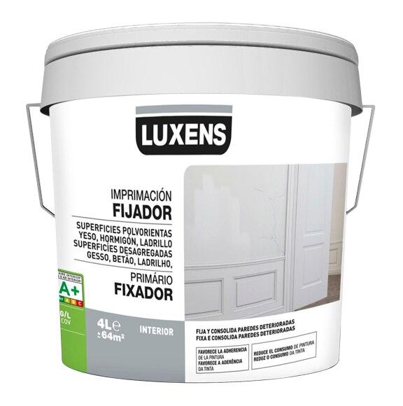 Imprimaciones superficies porosas luxens fijador acr lico - Imprimacion para paredes ...