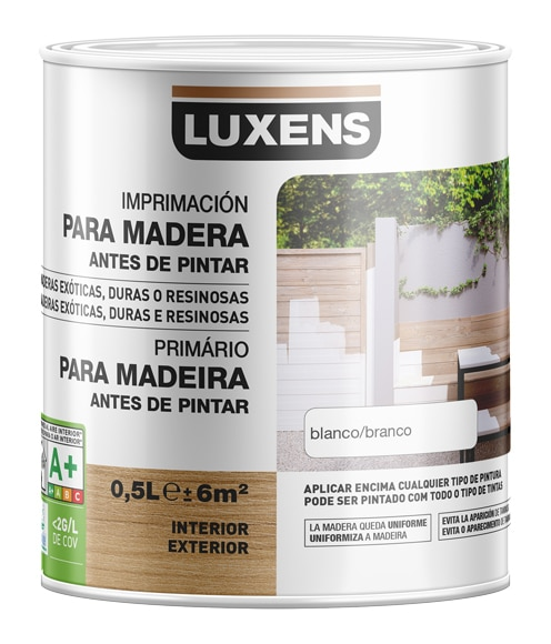 Imprimaci n al agua luxens para madera en exterior ref - Pintura para madera leroy merlin ...