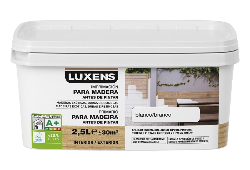 Imprimaci n al agua luxens para madera en exterior ref for Maderas tratadas para exterior leroy merlin
