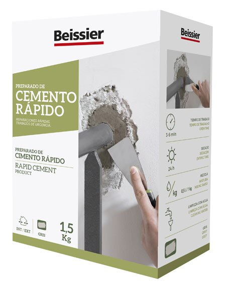 Cemento beissier r pido impermeable ref 754670 leroy merlin for Cordoli in cemento leroy merlin