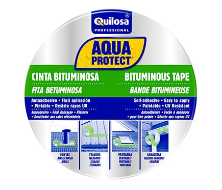 Cinta autoadhesiva bituminosa aquaprotect aluminio 10m x for Guaina bituminosa leroy merlin