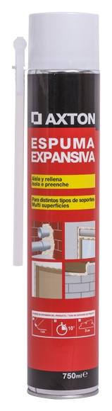 Espuma de poliuretano axton pack multiusos ref 16154824 - Espuma poliuretano leroy merlin ...