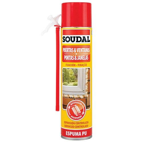 Espuma poliuretano soudal puertas y ventanas multiposici n - Precio de espuma de poliuretano ...