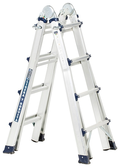 Escalera multifunci n aluminio excell 4 pelda os ref for Escalera aluminio 5 peldanos