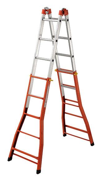 Escalera multifunci n mixta aluminio hierro 5 pelda o ref - Escaleras para pintar ...