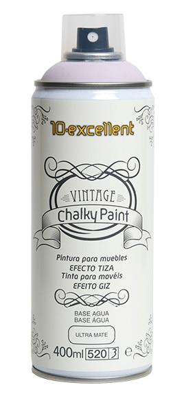 Pintura para muebles 400 ml chalky vintage rosa palo ref - Pintura vintage leroy merlin ...