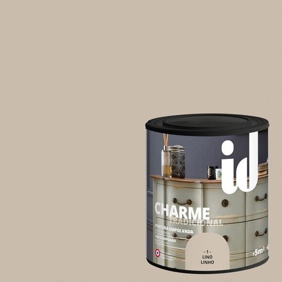 Pintura para mueble 500 ml id efecto empolvado lino ref for Pintura efecto envejecido leroy merlin