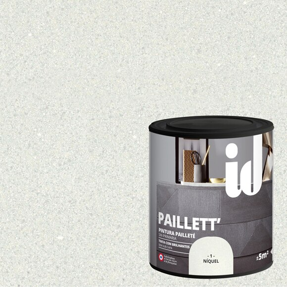 Pintura para mueble 500 ml id efecto metalizado purpurina - Pintura pared purpurina ...