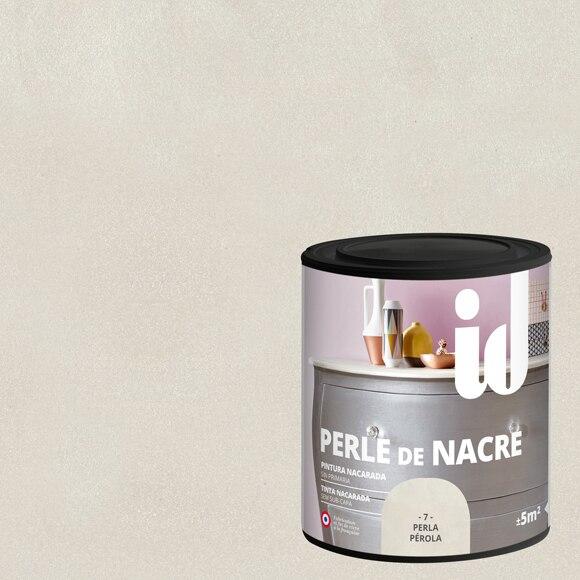 Pintura para mueble 500 ml id efecto nacarado perla ref for Pintura efecto envejecido leroy merlin
