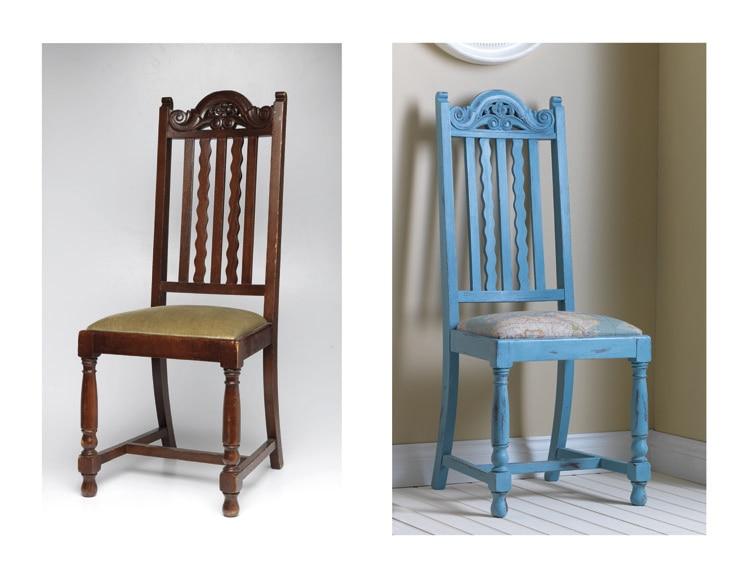 Pintura para muebles 750 ml rustoleum efecto tiza azul for Pintura de tiza para muebles