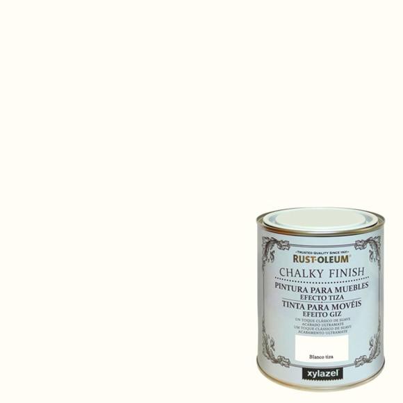 Pintura para muebles 125 ml rustoleum efecto tiza blanco for Pintura para muebles efecto tiza