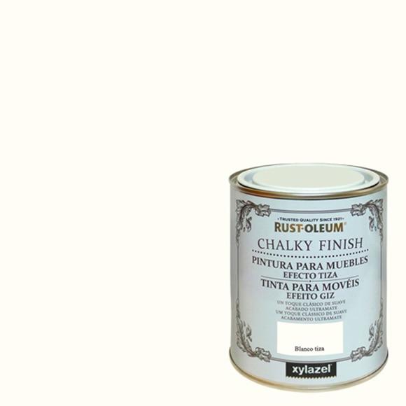 Pintura para muebles 750 ml rustoleum efecto tiza blanco for Blanco tiza pintura